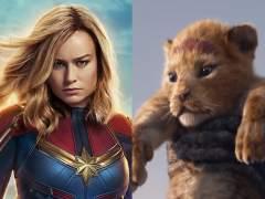 Capitana Marvel, El rey león y Star Wars IX