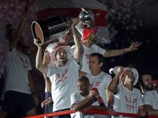 River celebra la Copa Libertadores en Argentina