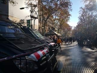 Mossos refuerzan la seguridad en La Rambla de Barcelona