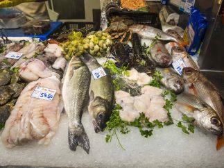 Pescadería en el mercado