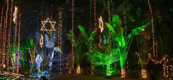 Iluminación navideña en Calcuta, India
