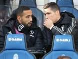 Cristiano Ronaldo, en el banquillo de la Juventus.