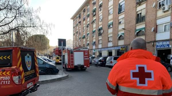 Incendio en Badajoz