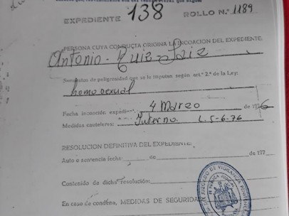 El expediente carcelario de Antoni Ruiz