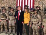 Trump visita a las tropas en Irak
