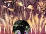 Foto del espectáculo de Año Nuevo diseñado por Groupe F para Barcelona.