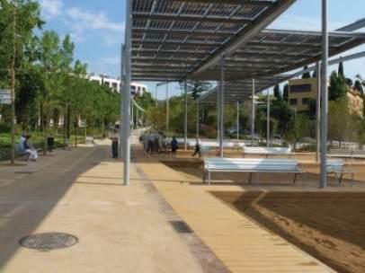 Nuevas pérgolas fotovoltaicas en València