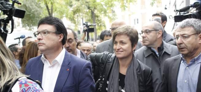Joan Josep Nuet y Anna Simó, exmiembros de la Mesa del Parlament.