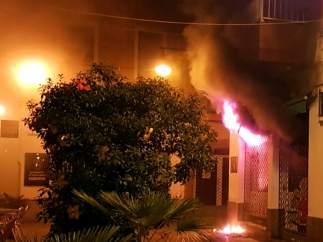 Incendio en una tienda de animales de Blanes.