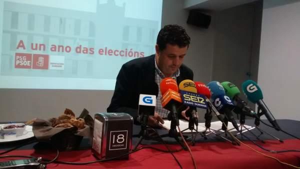 El portavoz del PSOE en la Diputación de Ourense, Francisco Fraga.