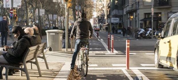 Carril bici Barcelona.
