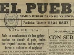 Portada del diario El Pueblo
