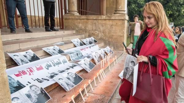 Homenaje a las turistas asesinadas en Marruecos