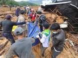 Corrimiento de tierras en Java