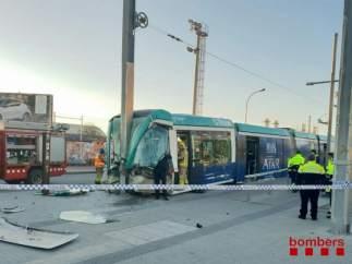 Tranvía accidente