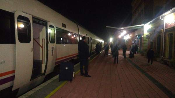 Tren varado en Extremadura