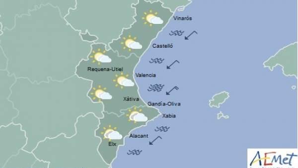 Cels clars amb gelades febles en l'interior de la Comunitat Valenciana aquest dimecres