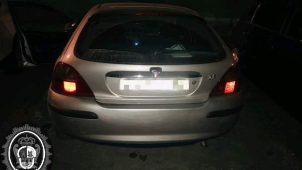 Vehículo intervenido por la Policía Local de Andújar