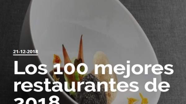 100 Mejores Restaurantes De 2018