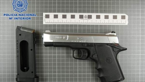 Imagen del arma incautada por la Policía Nacional