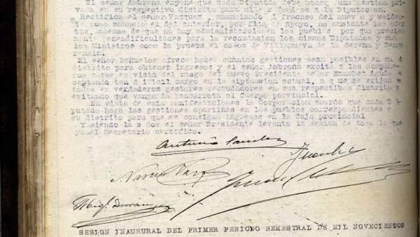 Documento del mes de enero en el Archivo Provincial de la Diputación de Badajoz