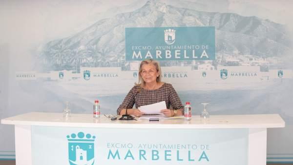 María Francisca Caracuel en rueda de prensa