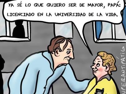 'Universidad de la vida', viñeta de Superantipático.