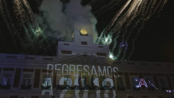 Campanadas Canarias en la Puerta del Sol