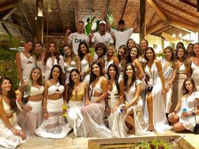 Neymar en su fiesta