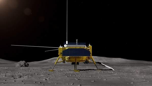 Recreación artística de la sonda Chang'e 4