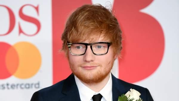 Ed Sheeran durante los 'Brit Awards 2018'