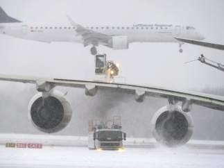 Nieve en aeropuertos de Alemania