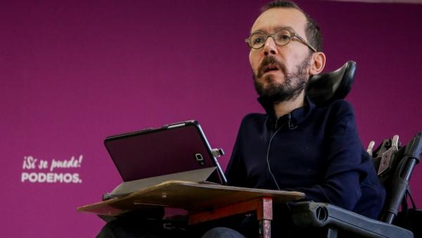 Pablo Echenique, durante la entrevista