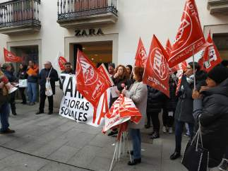Protesta de Zara en Lugo