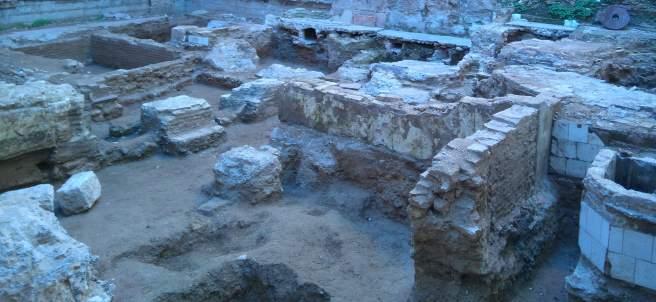 Restos de la necrópolis islámica en la plaza del Árbol