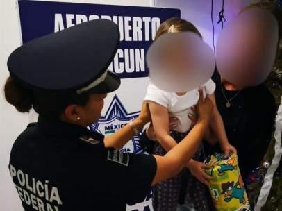Menor española rescatada en Cancún