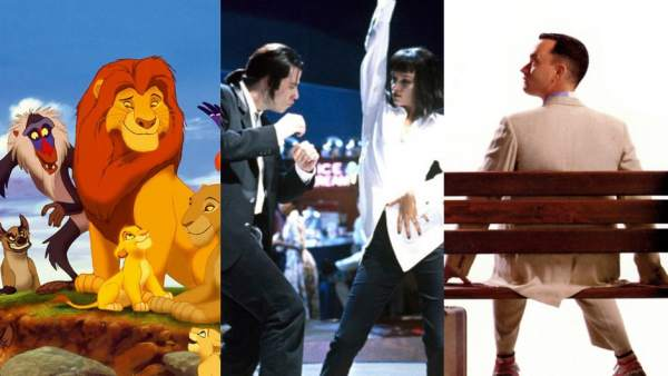 El rey león, Pulp Fiction y Forrest Gump