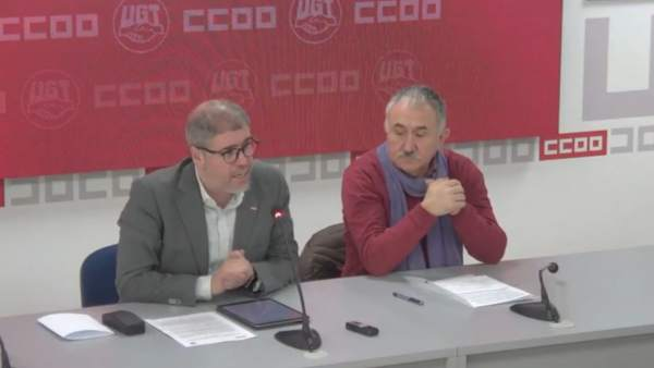 Unai Sordo y Pepe Álvarez