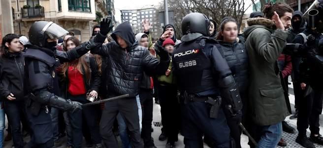 Cargas en Pamplona por la protesta okupa del gaztetxe Maravillas