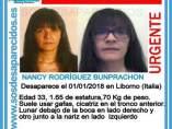 Cartel de búsqueda de Nancy Rodríguez Bunprachon. 8-1-2019