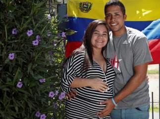 Fabiola y su novio Reinaldo