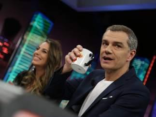 Almudena Cid y Toni Cantó, en 'El hormiguero'.