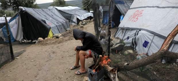 Refugiados en Lesbos, Grecia