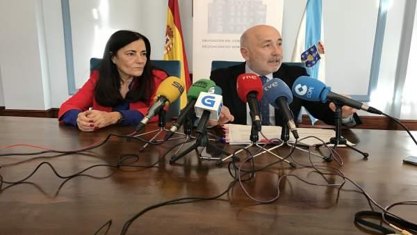 El delegado del Gobierno en Galicia comparece en Lugo.