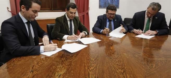 Pacto de investidura en Andalucía
