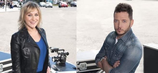 Los reporteros Mireia Llinares y Boro Barber, en 'En el punto de mira'.