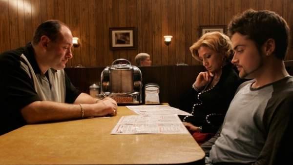Escena final de 'Los Soprano'