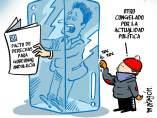 Ola de frío polar, viñeta de Malagón