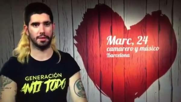 Marc, nieto de Antoni Tàpies, en 'First Dates'