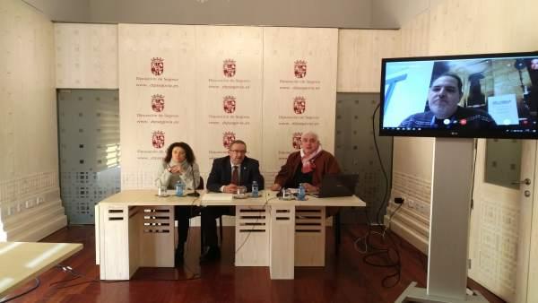 Presentación del evento en el Salón del Trono de la Diputación de Segovia. 10-1